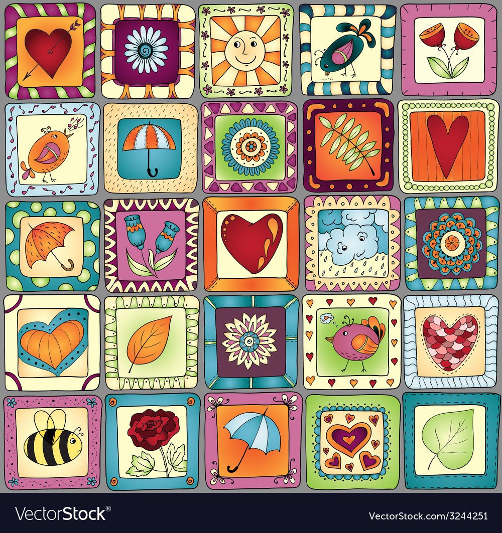 Geometric seamless patchwork style pattern vector | Price: 1 Credit (USD $1)
