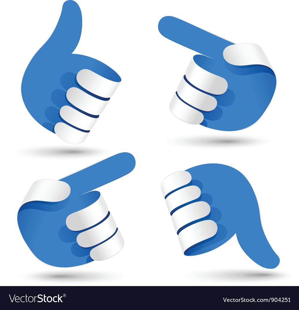 Paper hands vector | Price: 3 Credit (USD $3)
