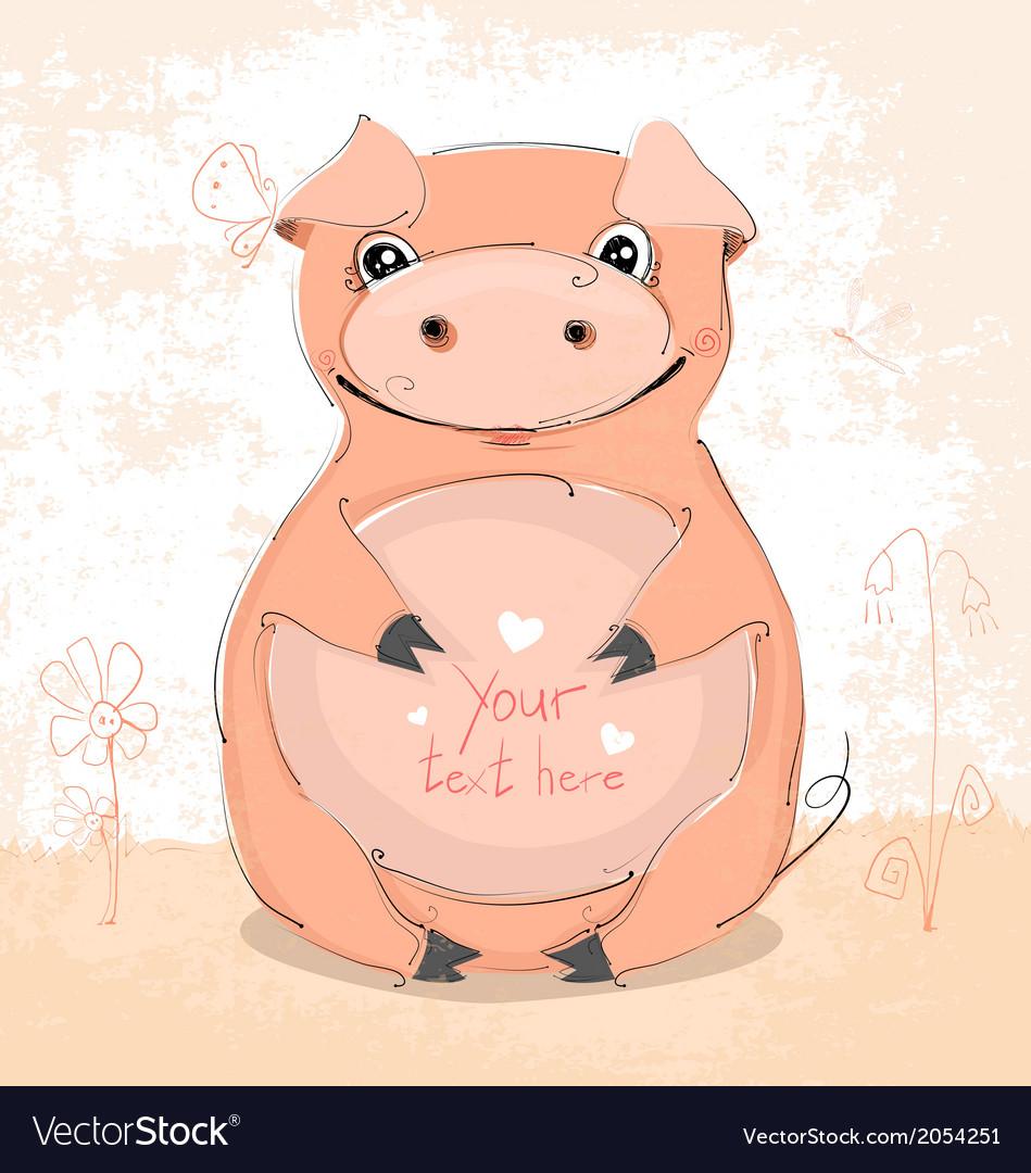 Piggy vector | Price: 1 Credit (USD $1)