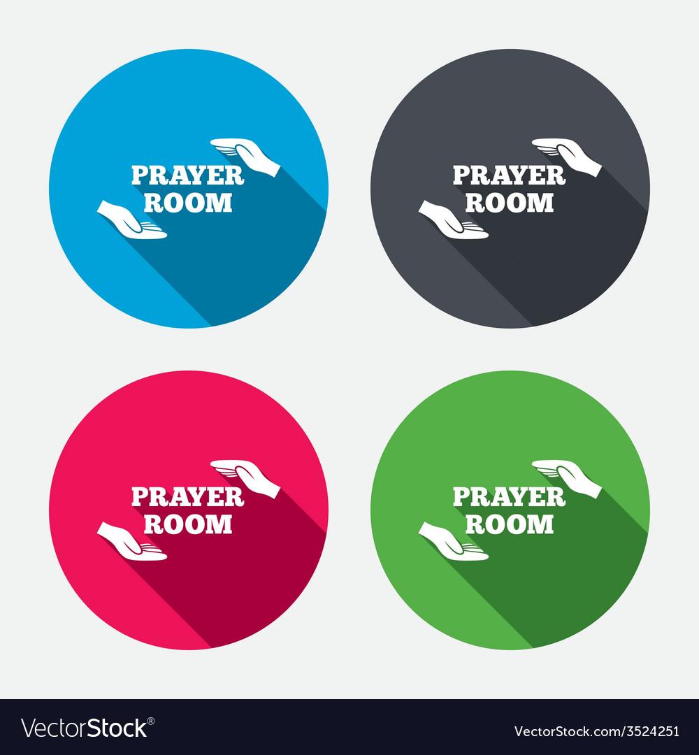 Prayer room sign icon religion priest symbol vector   Price: 1 Credit (USD $1)