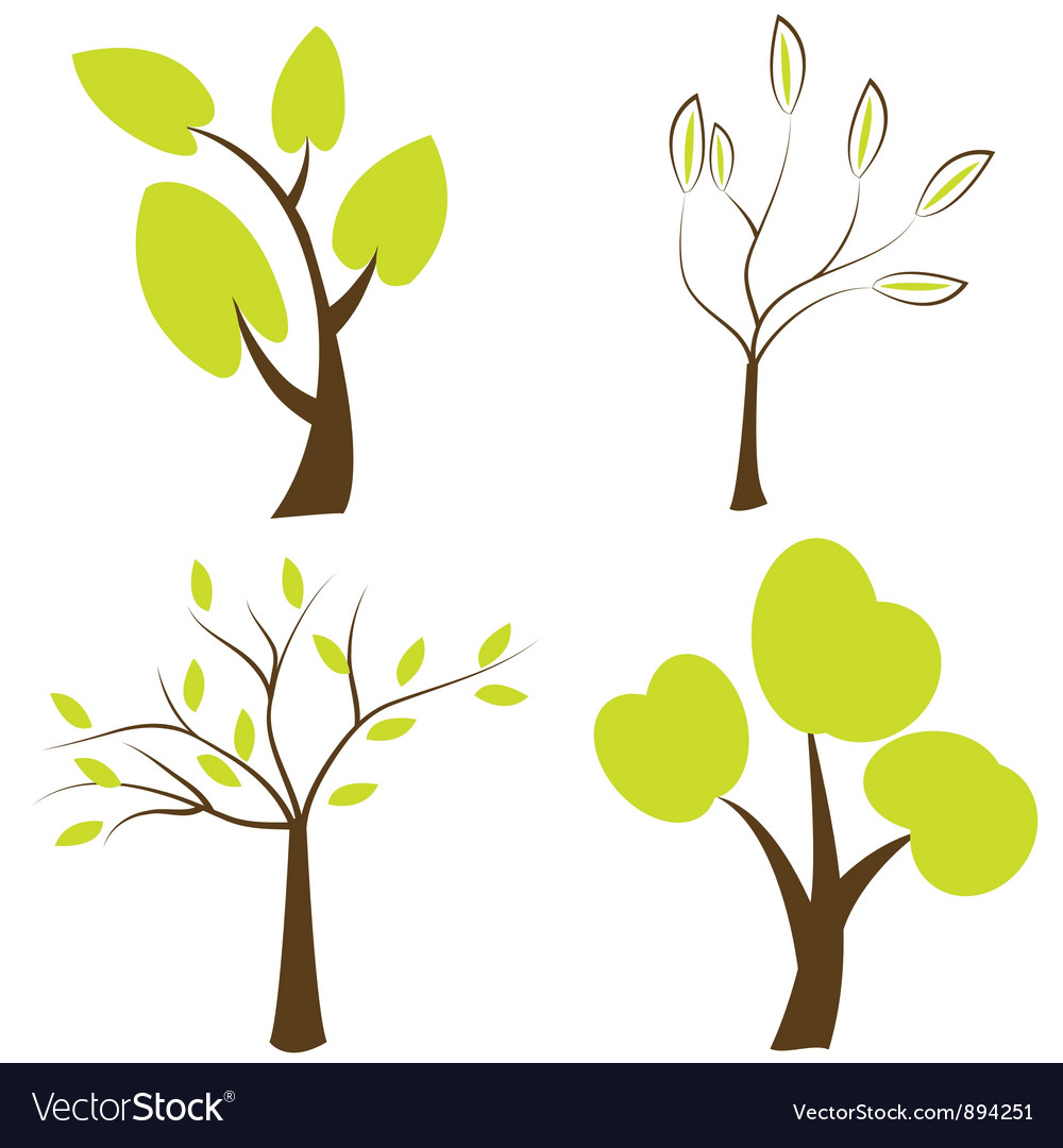 Set of trees icons vector | Price: 1 Credit (USD $1)