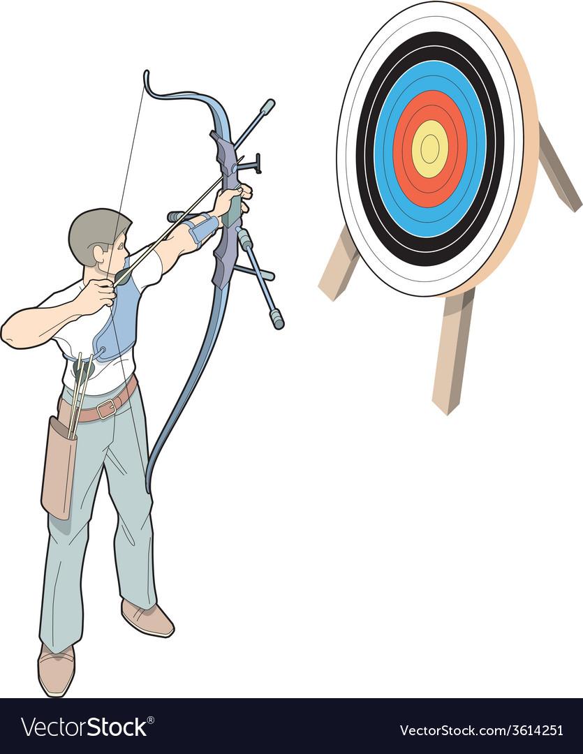 Shot with arrow vector | Price: 1 Credit (USD $1)