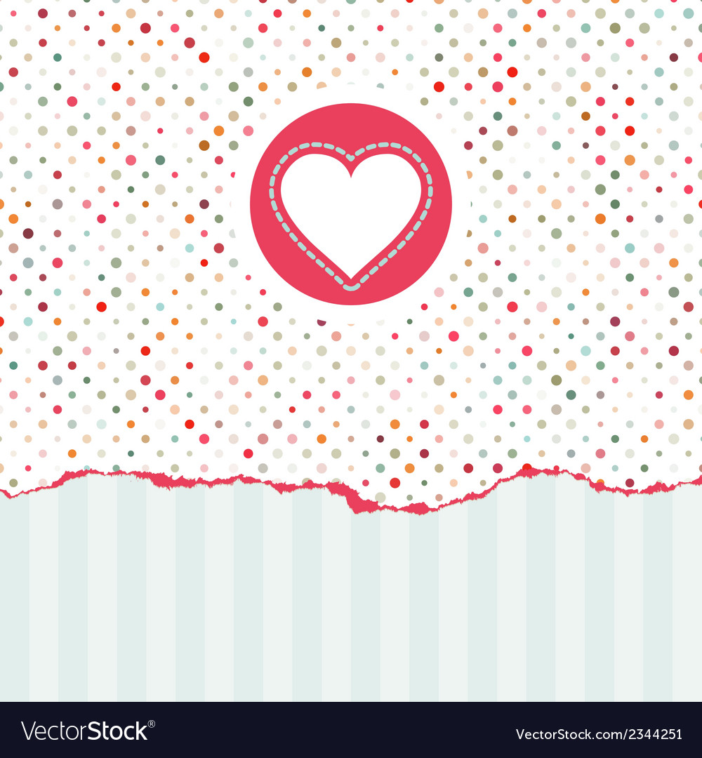 Valentines card with copy space eps 8 vector | Price: 1 Credit (USD $1)