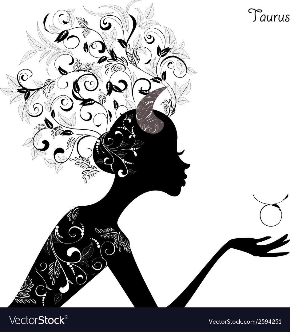 Zodiac sign taurus fashion girl vector   Price: 1 Credit (USD $1)