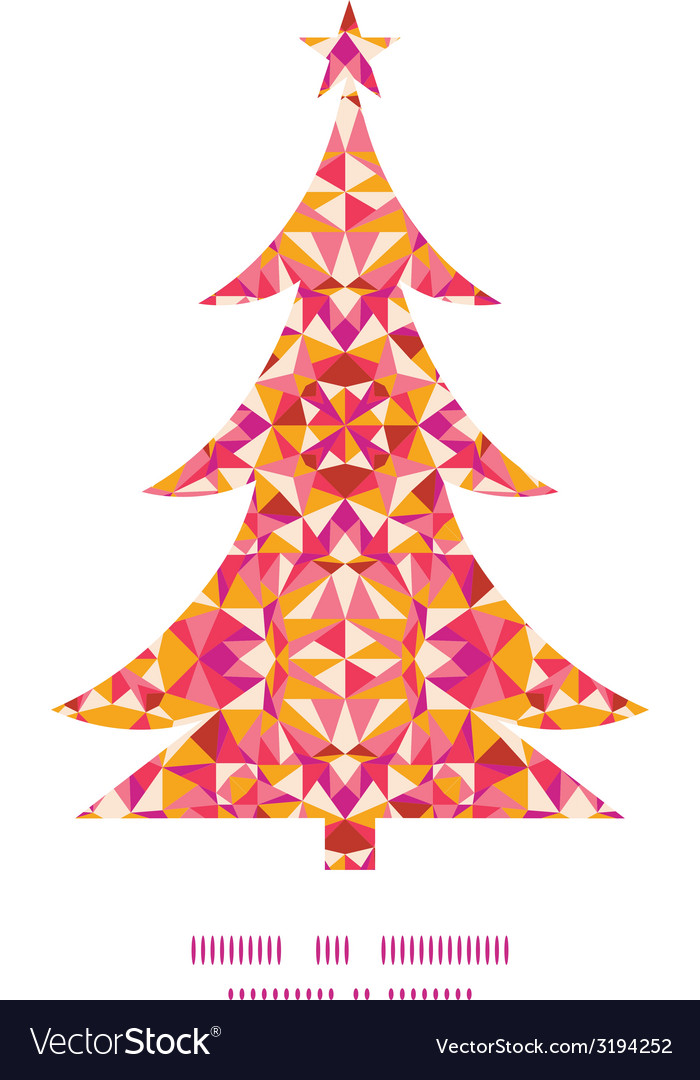 Colorful triangle texture christmas tree vector   Price: 1 Credit (USD $1)