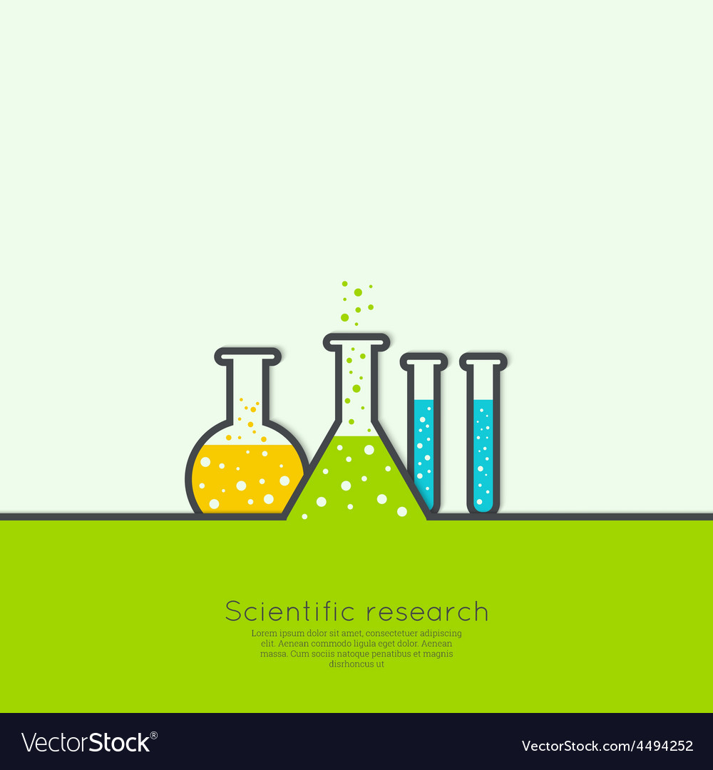 Concept of chemical science research lab vector