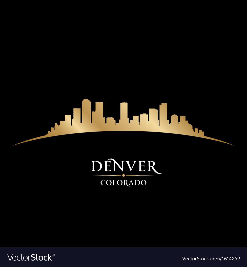 Denver colorado city skyline silhouette vector | Price: 1 Credit (USD $1)