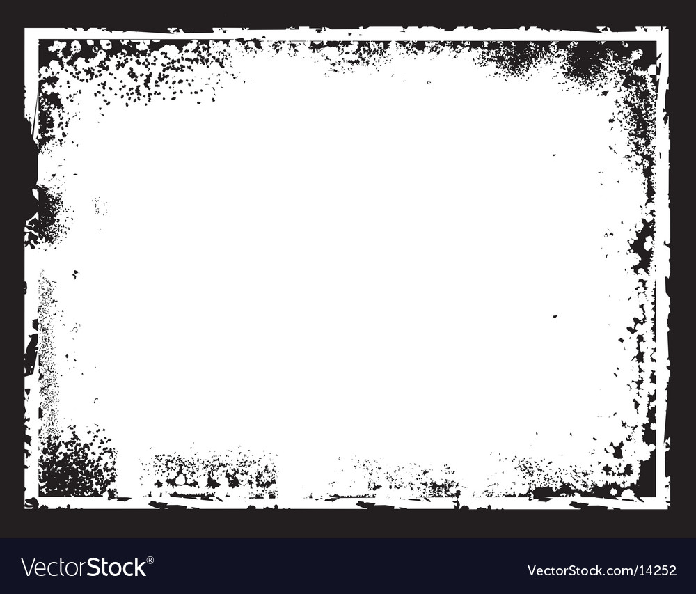Grunge border frame vector | Price: 1 Credit (USD $1)