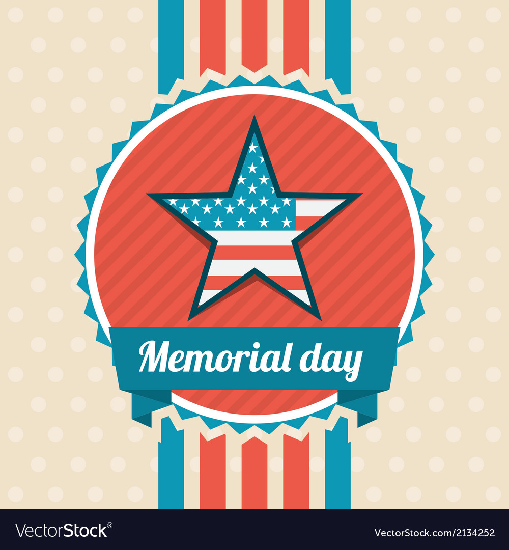 Memorial day design vector | Price: 1 Credit (USD $1)
