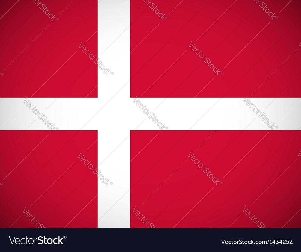 National flag of denmark vector | Price: 1 Credit (USD $1)