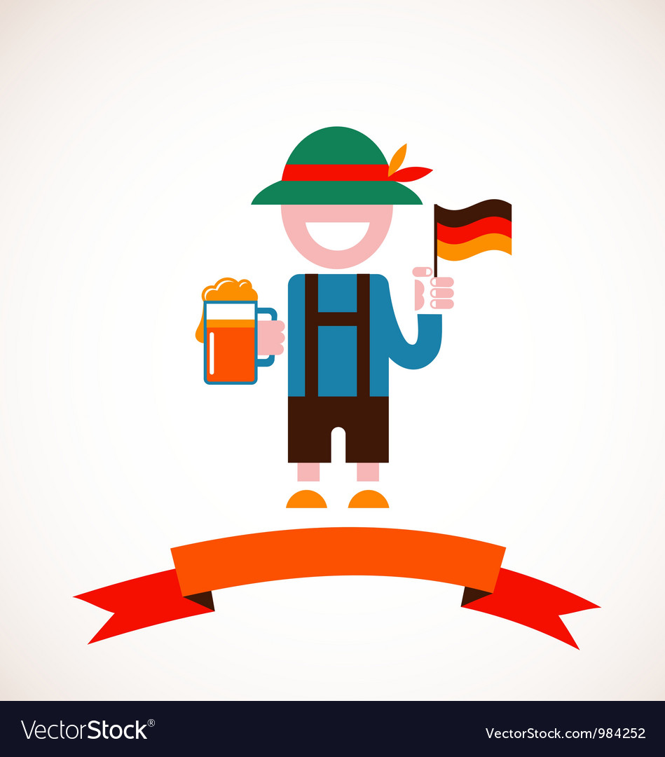 Oktoberfest background - man with beer vector | Price: 3 Credit (USD $3)