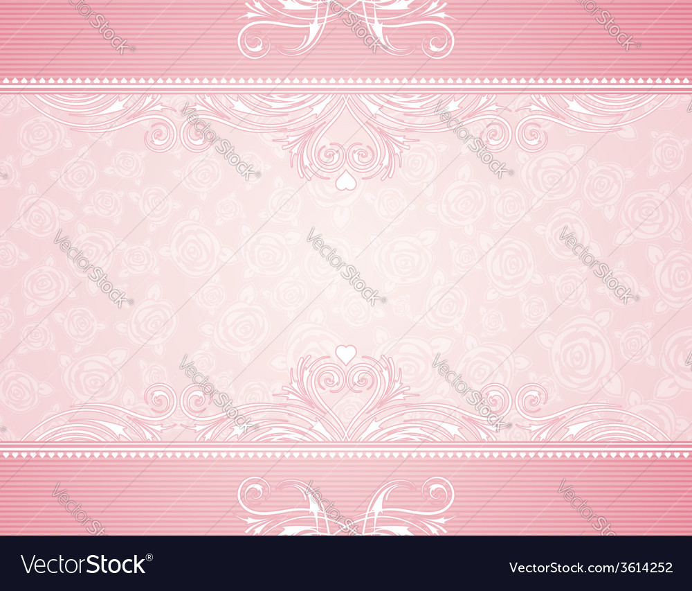 Pink background with roses vector | Price: 1 Credit (USD $1)