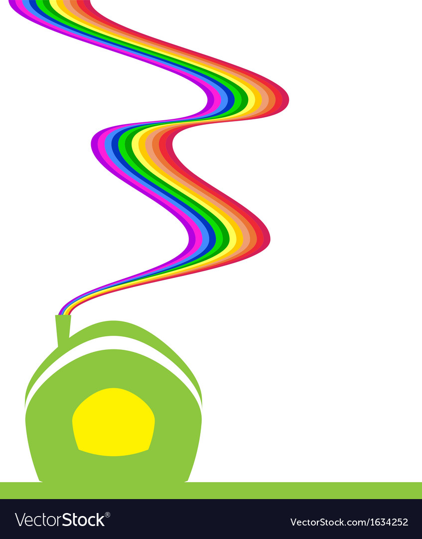 Rainbow house vector | Price: 1 Credit (USD $1)