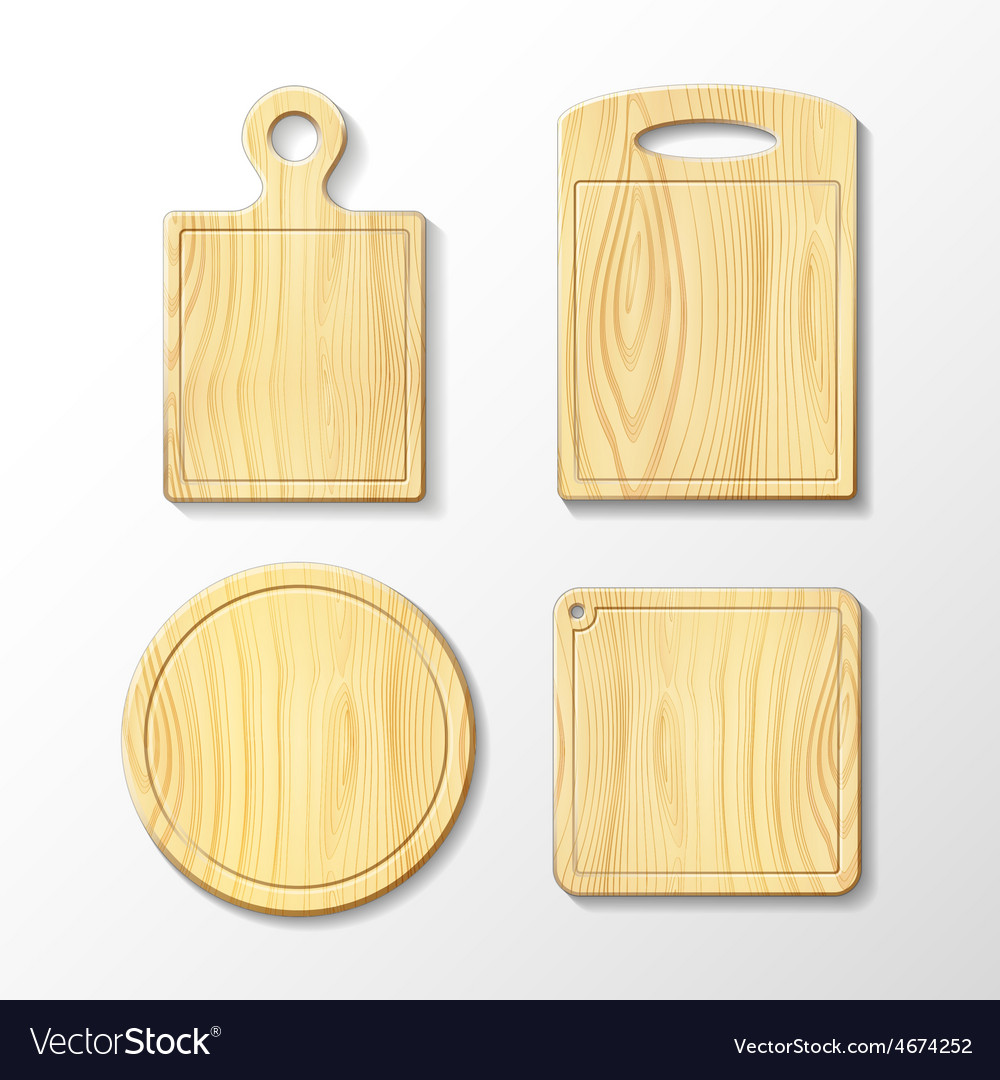 Set wooden cutting board vector | Price: 1 Credit (USD $1)