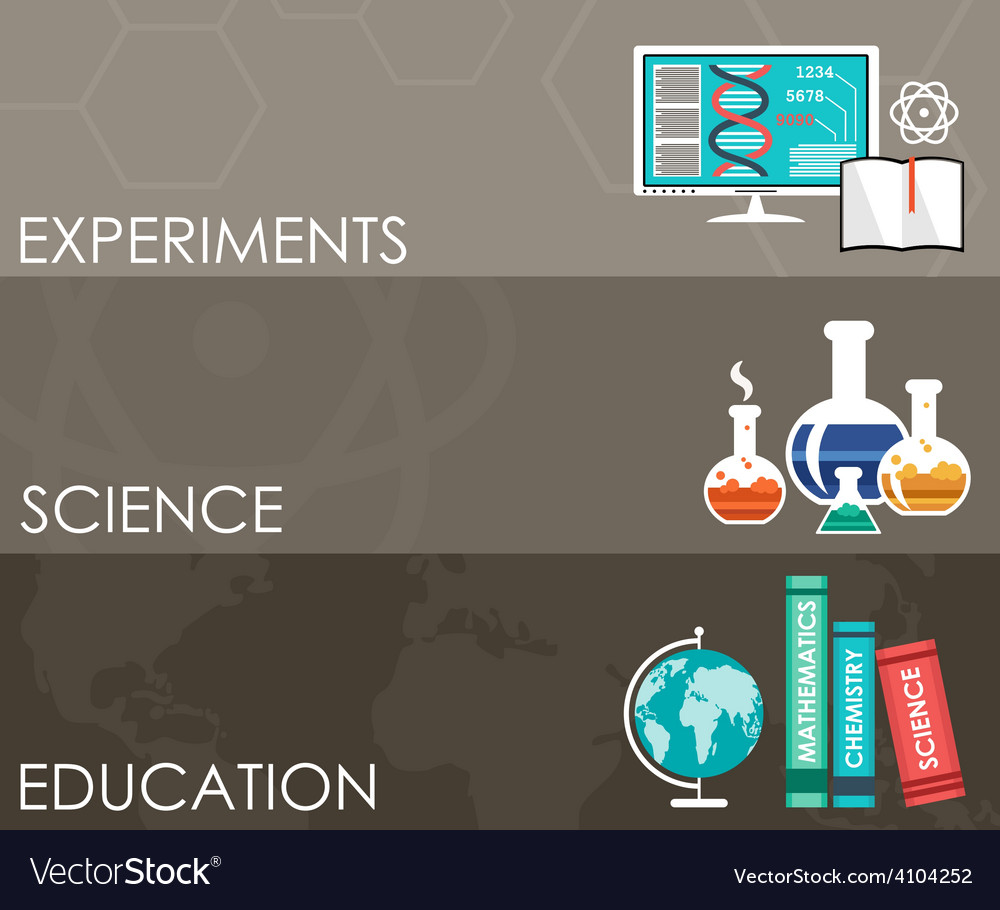 Three science banners infographics vector | Price: 1 Credit (USD $1)