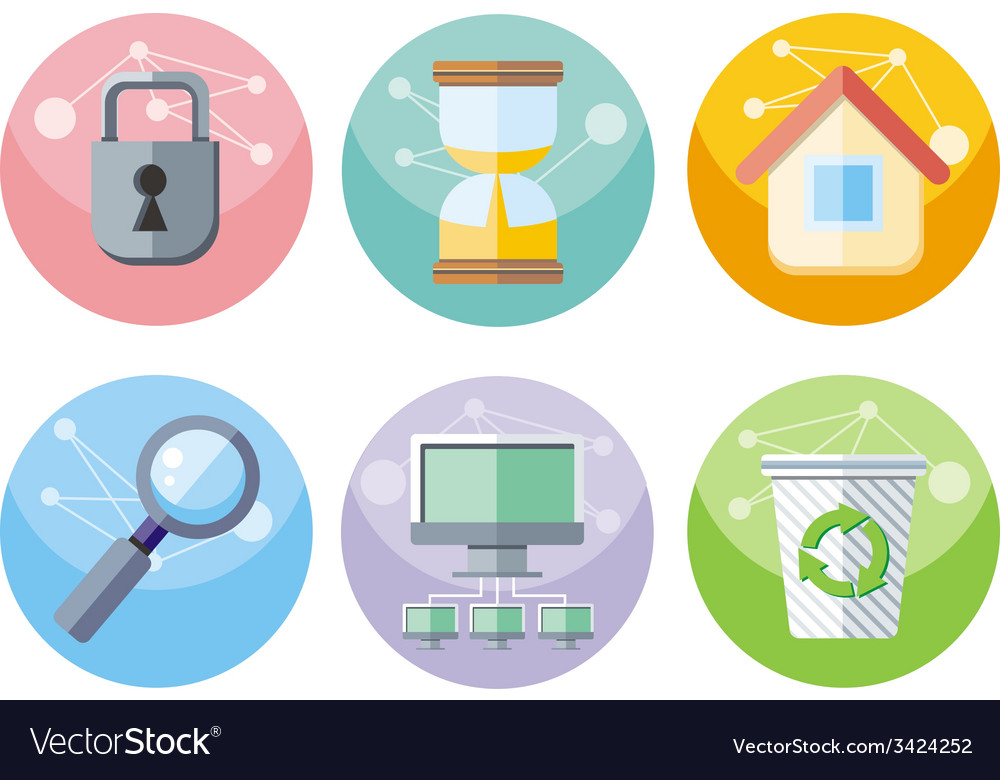 User interface icons set isolated on white vector   Price: 1 Credit (USD $1)