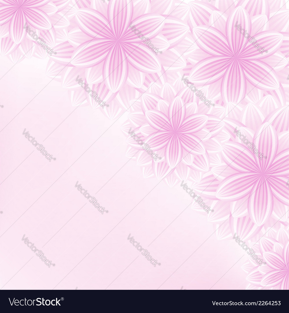 Beautiful lace floral pink background with flowers vector | Price: 1 Credit (USD $1)