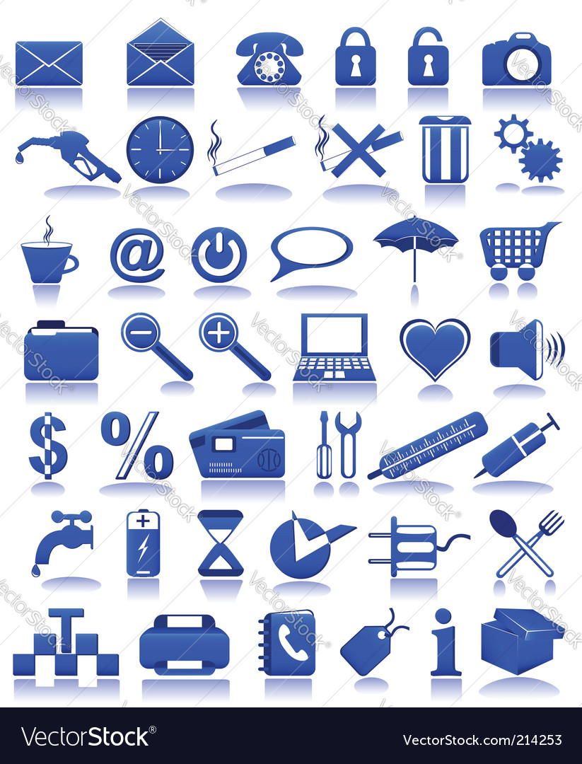 Blue icons vector | Price: 1 Credit (USD $1)