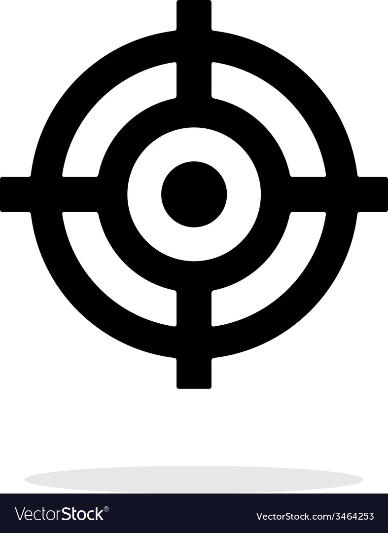 Crosshair icon on white background vector | Price: 1 Credit (USD $1)