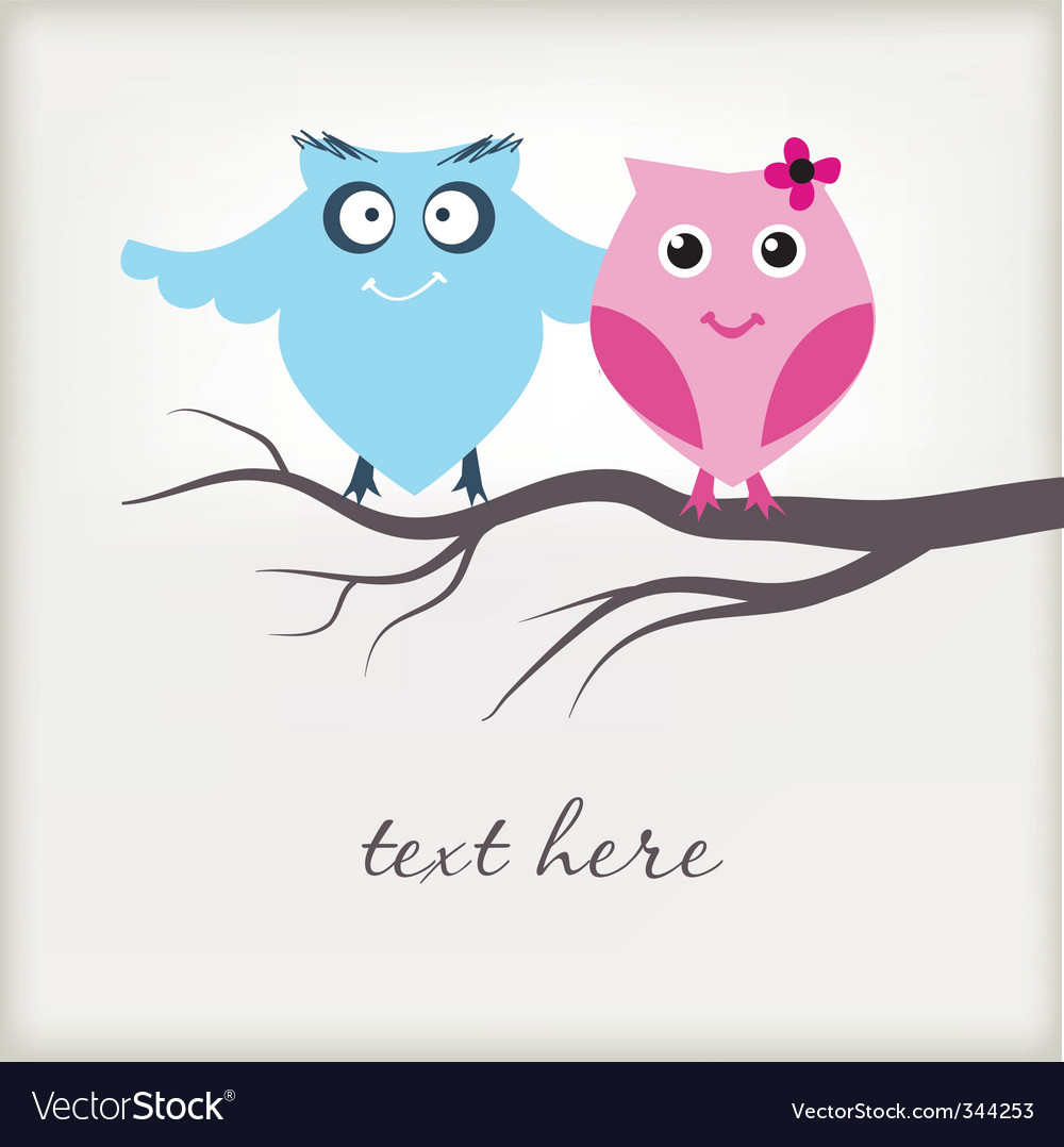 Cute owls vector | Price: 1 Credit (USD $1)