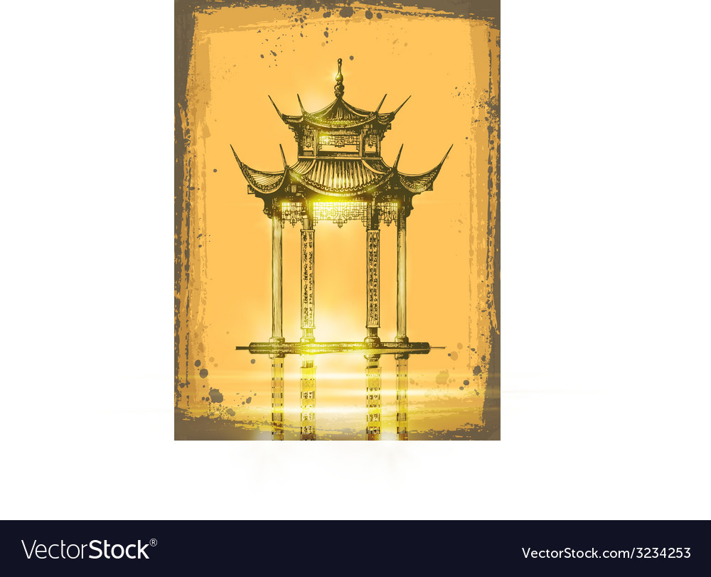 Japanese temple vector | Price: 1 Credit (USD $1)
