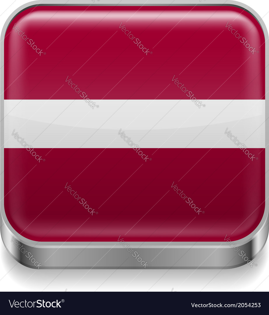 Metal icon of latvia vector | Price: 1 Credit (USD $1)