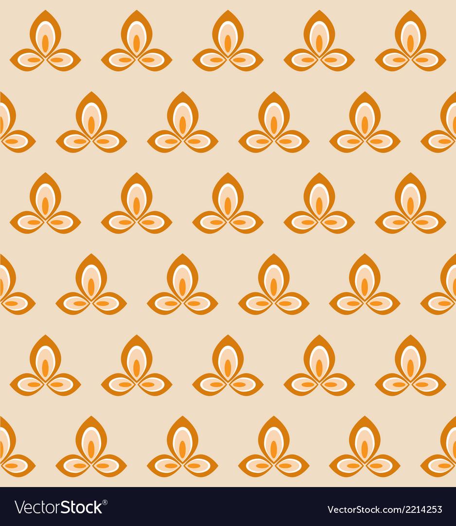 Retro flower seamless pattern vector | Price: 1 Credit (USD $1)