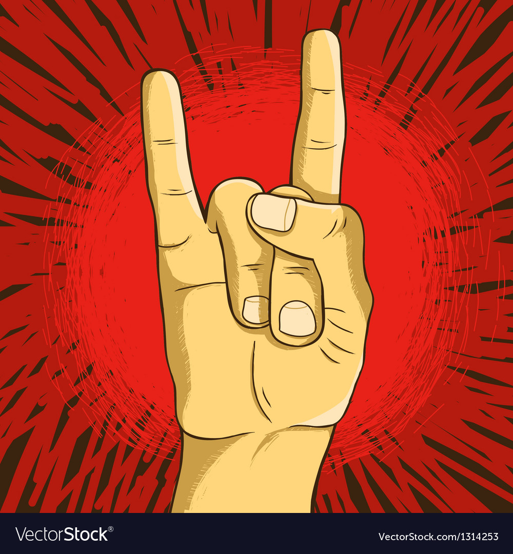 Rock n roll symbol - human hand - gesture vector | Price: 1 Credit (USD $1)