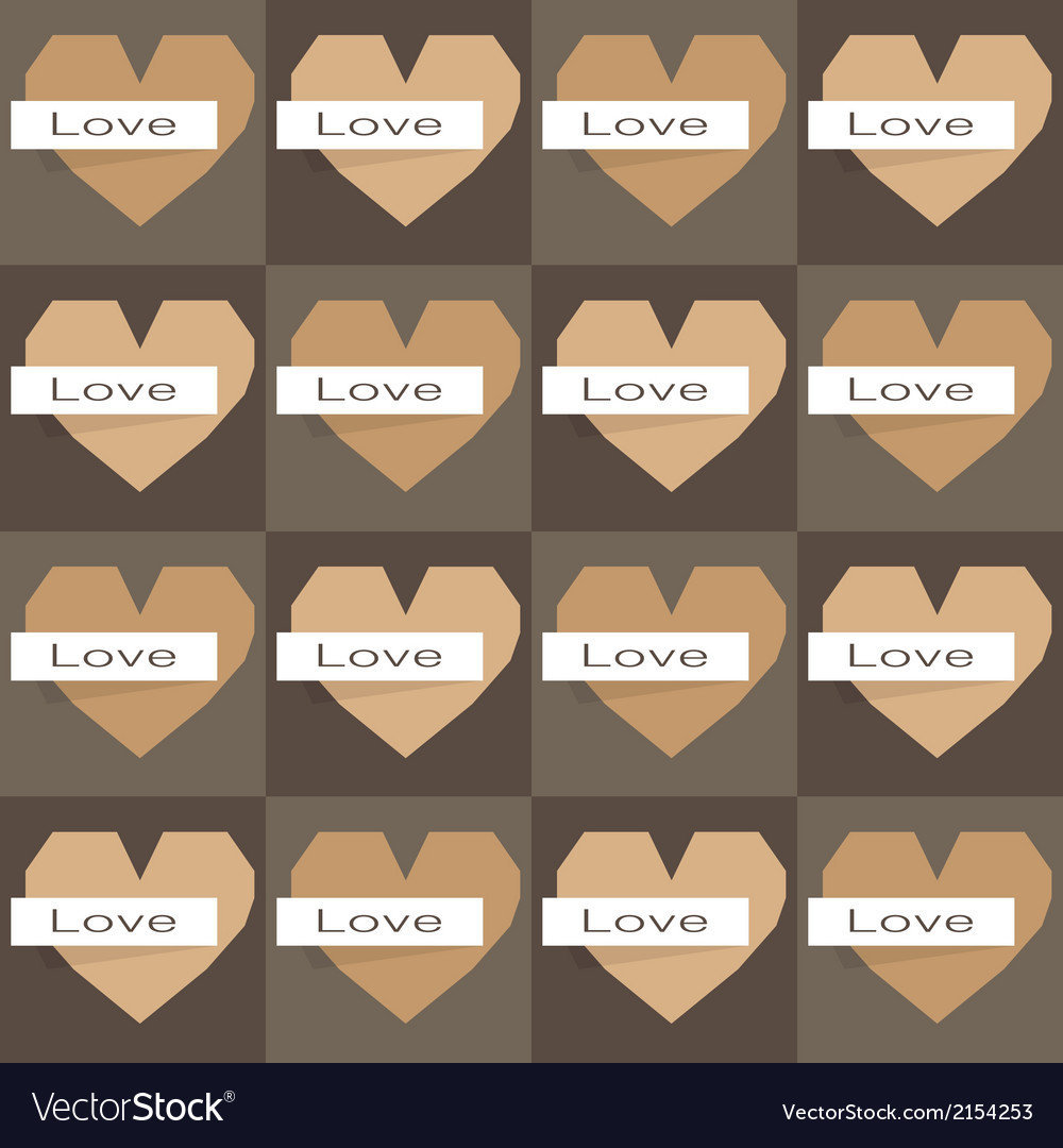 Seamles origami hearts on dark background vector | Price: 1 Credit (USD $1)