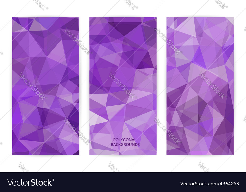 Set of abstract geometric polygonal backgrounds vector | Price: 1 Credit (USD $1)