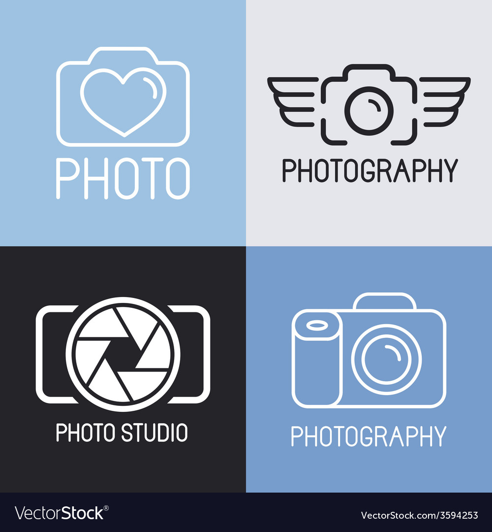 Set of photography logos vector | Price: 1 Credit (USD $1)