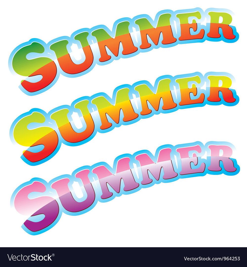 Summer colorful sign vector | Price: 1 Credit (USD $1)