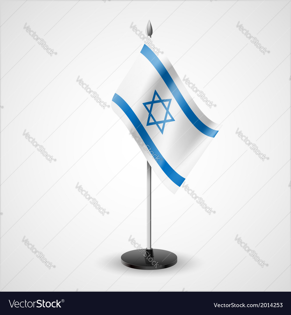 Table flag of israel vector | Price: 1 Credit (USD $1)