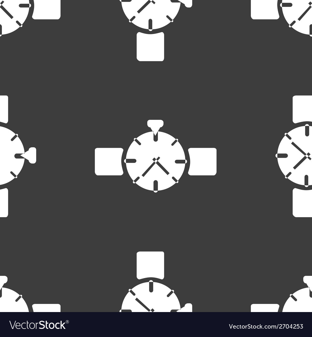 Watchclock web icon flat design seamless gray vector | Price: 1 Credit (USD $1)