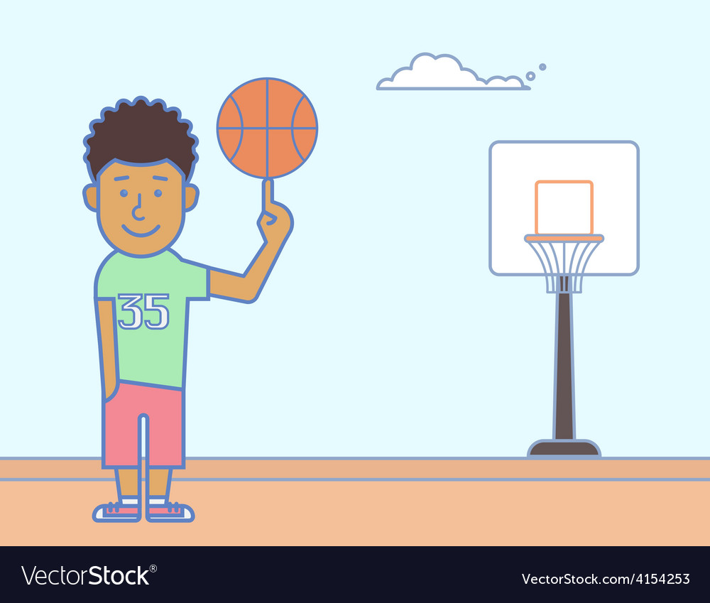 Young basketball player vector | Price: 1 Credit (USD $1)