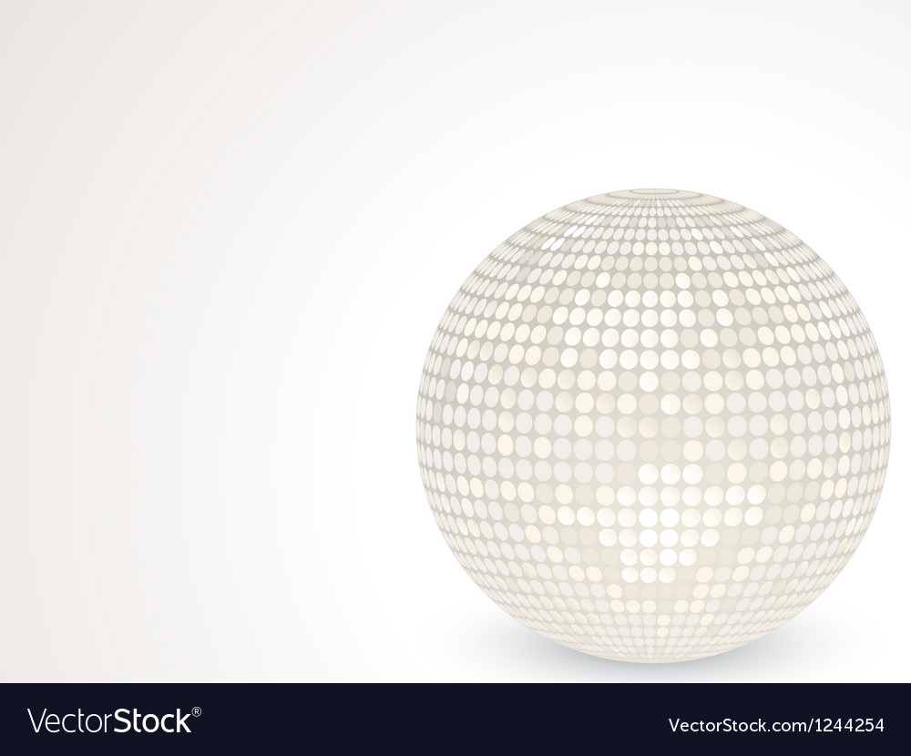 3d white disco ball vector