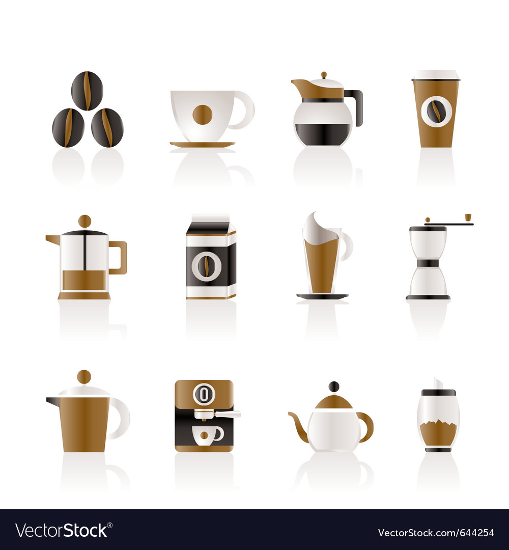 Coffee industry signs and icons vector | Price: 1 Credit (USD $1)