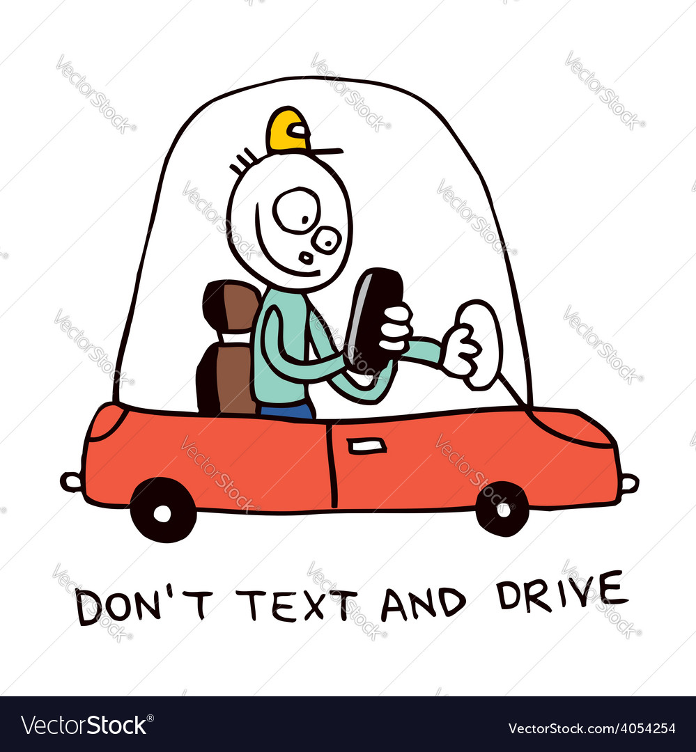 Dont text and drive vector | Price: 1 Credit (USD $1)