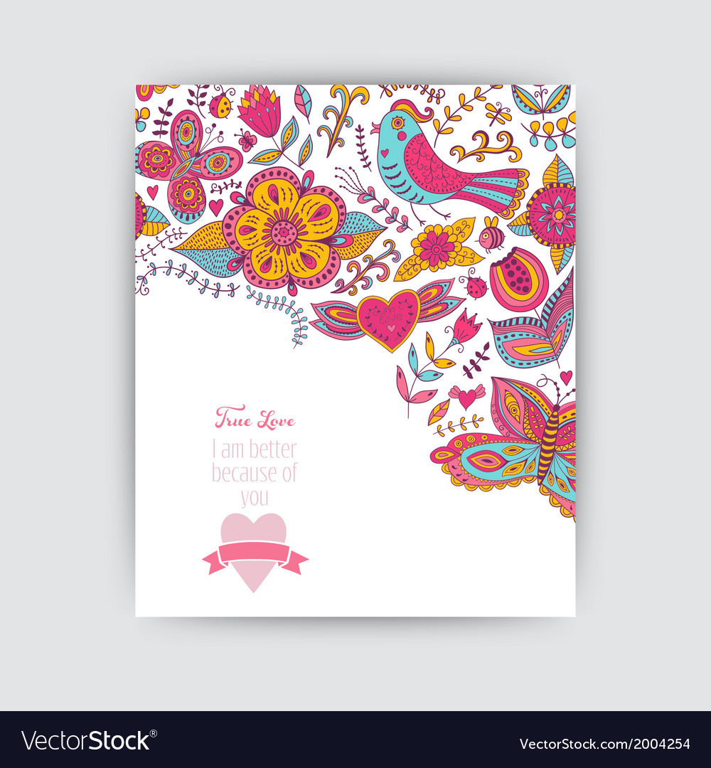 Floral banner for life events greeting floral vector | Price: 1 Credit (USD $1)