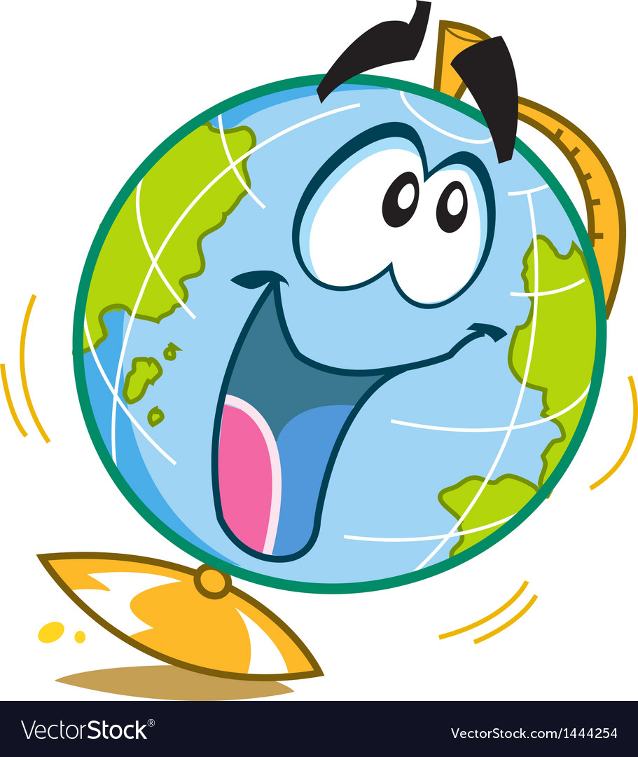 Happy fun globe vector | Price: 1 Credit (USD $1)