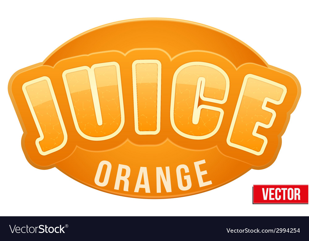 Label for orange juice bright premium design vector | Price: 1 Credit (USD $1)