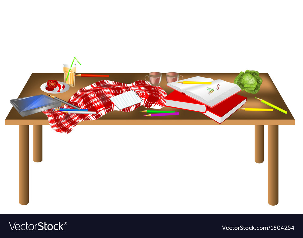 Messy table vector | Price: 1 Credit (USD $1)