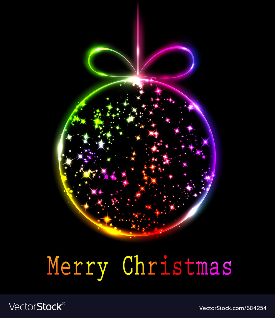 Multicolored christmas ball vector | Price: 1 Credit (USD $1)