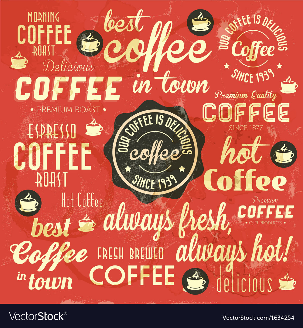 Retro coffee badges and labels collection vector   Price: 1 Credit (USD $1)