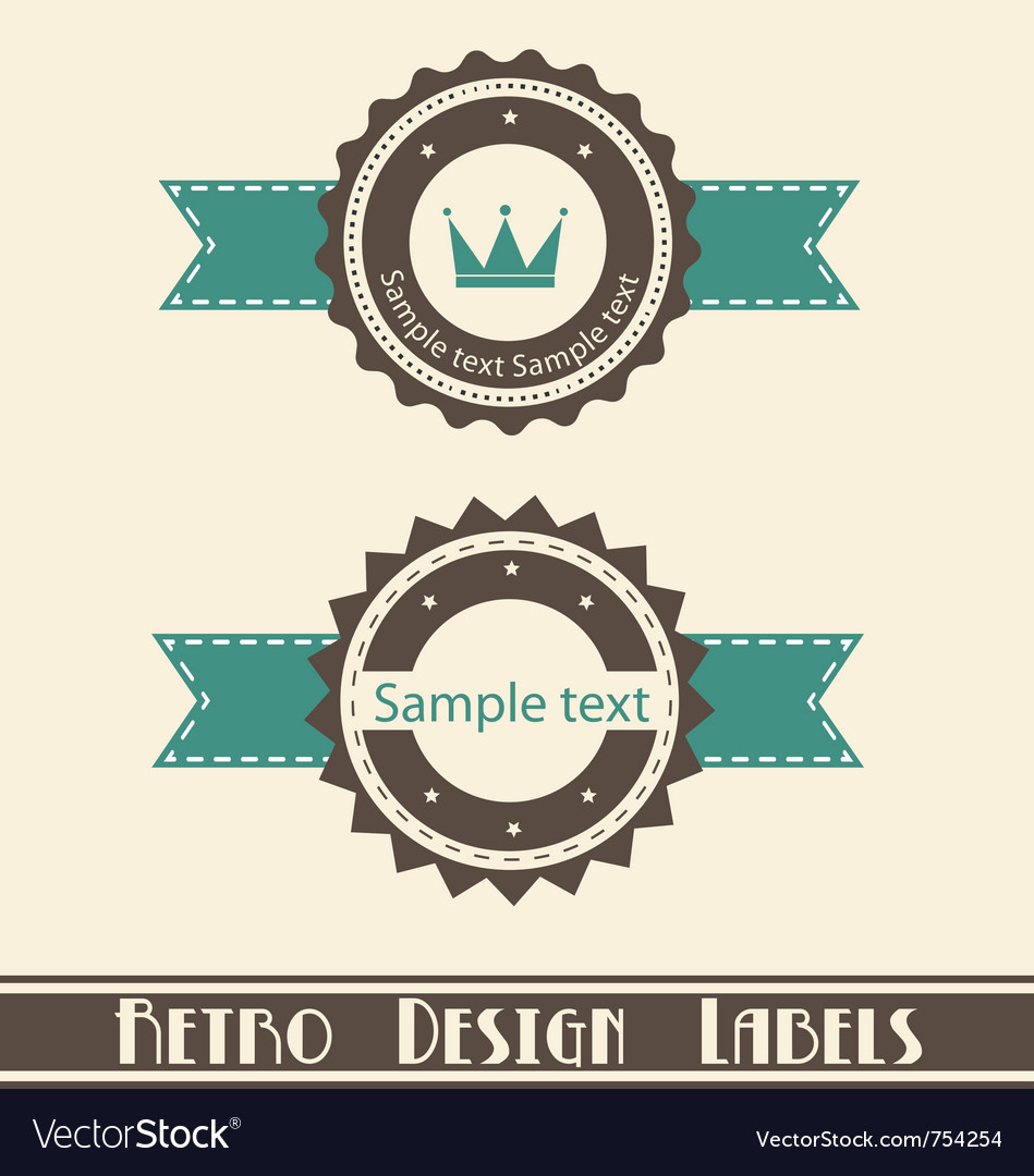 Retro design labels vector | Price: 1 Credit (USD $1)