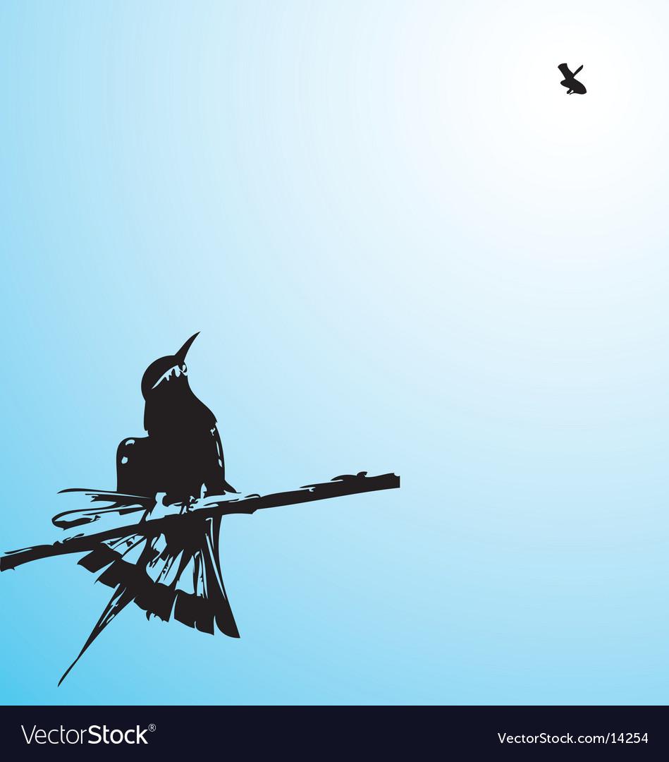 Tree humming bird vector | Price: 1 Credit (USD $1)