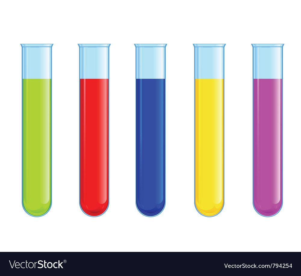 Tubes with colored liquid vector | Price: 1 Credit (USD $1)