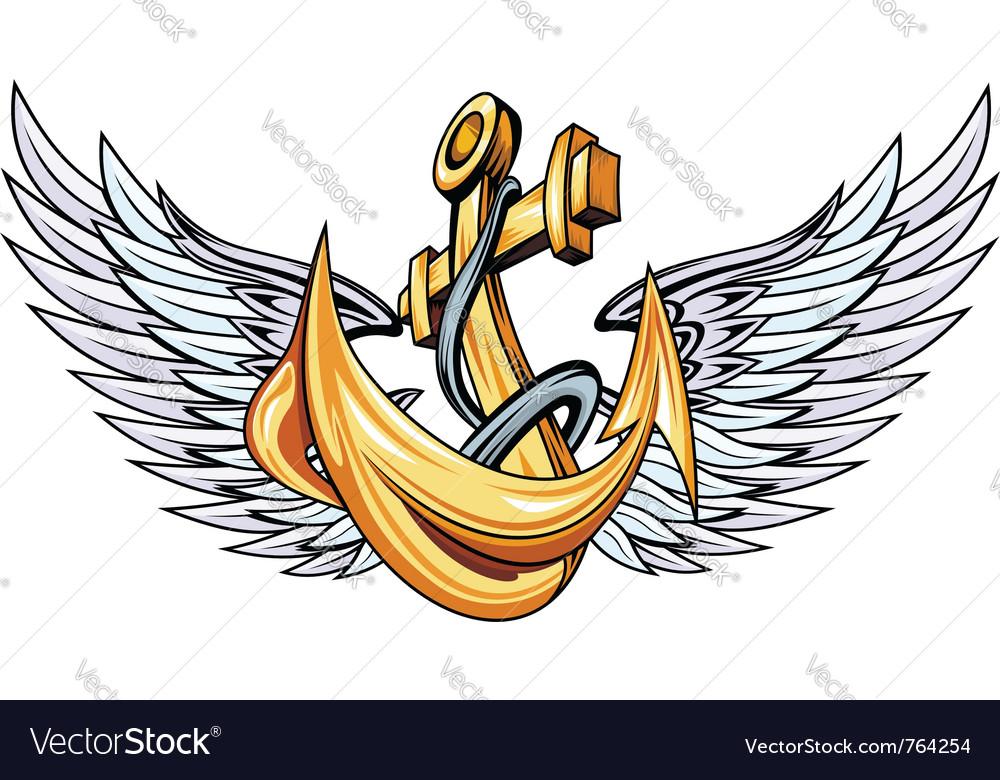 Vintage anchor vector | Price: 1 Credit (USD $1)