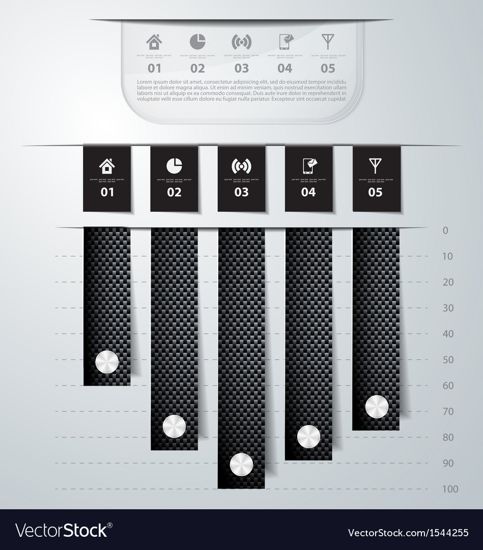 Abstract carbon infographics vector | Price: 1 Credit (USD $1)