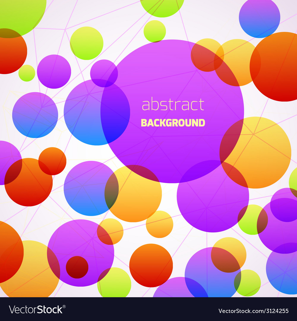 Abstract colorful circles background vector | Price: 1 Credit (USD $1)